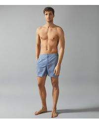 Reiss Eclipse - Printed Swim Shorts - Blue