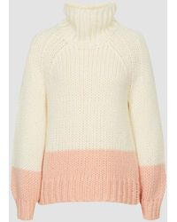 Reiss Hettie - Chunky Knit Roll Neck Sweater - Natural