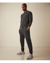 Reiss Garment Dyed Sweatshirt - Black