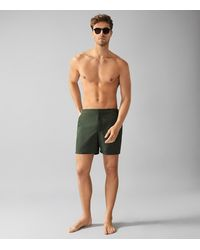 Reiss Jose - Swim Shorts With Side Adjusters - Green