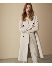 Reiss - Honour Coat - Twill Weave Trench Coat - Lyst