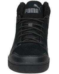 PUMA High Top Sneaker Rebound Layup Sd Fur Leder - Schwarz