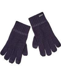 BOSS Orange - Grass 2 Navy Blue Wool Gloves - Lyst