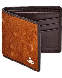 Vivienne Westwood - Grained Leather Ponyskin Front Brown Wallet - Lyst
