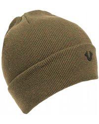 True Religion - Metal Logo Olive Green Beanie Hat - Lyst