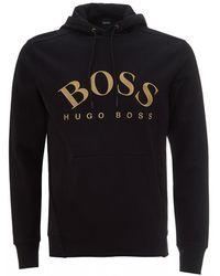 BOSS Soody Logo Hoodie, Black Hooded Sweatshirt
