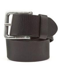 BOSS by Hugo Boss - Jeek Basic Black Leather Belt - Lyst