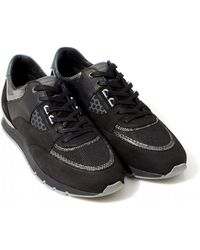 Android Homme Belter 2.0 Trainers, Black Silver Gloss Carbon Trainers