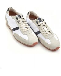 BOSS Orland_lowp_sdny1 Trainers, Suede Leather White Trainers