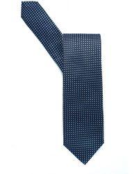BOSS Classic Navy Squares Silk Tie - Blue