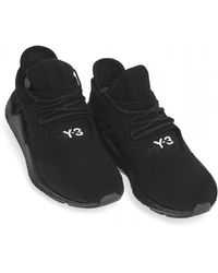 Y-3 - Saikou Knitted Textile Trainers, Black Sneakers - Lyst