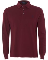 Ralph Lauren Mesh Polo Shirt, Burgundy Red Slim Fit Polo