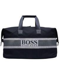 BOSS - Pixel Jholdall Navy Blue Logo Gym Bag - Lyst