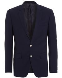 BOSS - Hanston Jacket, Navy Blue Metal Button Slim Fit Blazer - Lyst
