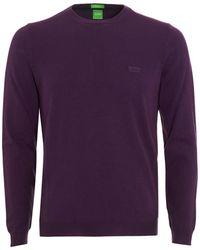 BOSS - C-caio Jumper, Purple Fine Knit Sweater - Lyst