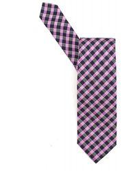 BOSS Black - Tie Purple Navy Diagonal Check Silk Tie - Lyst