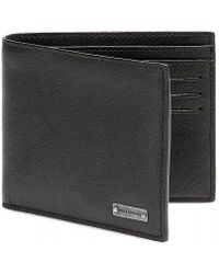 BOSS Orange - Brivio Black Leather Billfold Wallet - Lyst