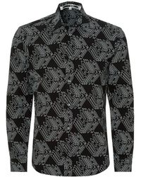 McQ - Shields 25 Darkest Black All Over Cube Print Shirt - Lyst