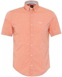 BOSS Biadia_r Short Sleeve Orange Shirt