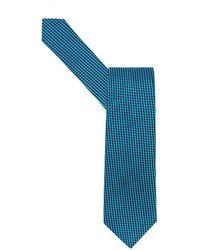Armani - Tie Jacquard Micro Dot Turquoise Tie - Lyst