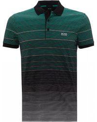 BOSS Paddy 3 Black Striped Polo Shirt