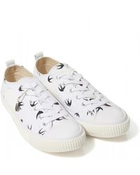 McQ Swallow Low Plimsoll Trainers, White Trainers