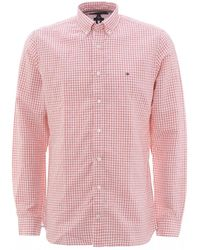 Tommy Hilfiger Pink Gingham Check Cotton Shirt