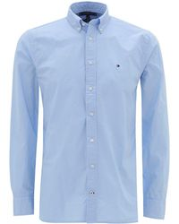 Tommy Hilfiger Chambray Blue Pure Cotton Poplin Shirt