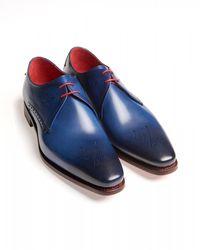 Jeffery West Cian Blue Night Stalker Hunger Derby Shoes