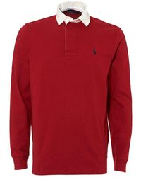 Ralph Lauren - Rugby Shirt, Cotton Jersey Eaton Red Polo - Lyst