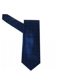 BOSS White Dot Navy Blue Silk Tie