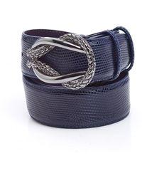 Elliot Rhodes - Blue Reef Knot Faux Lizard Belt - Lyst