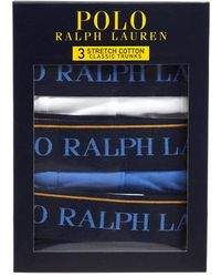 Polo Ralph Lauren Pack Of 3 Classic-fit Underwear, Stretch Cotton Trunks - White