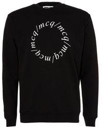McQ - Centurion Sweatshirt, Letters Black Sweat - Lyst