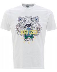 KENZO Tiger Head T-shirt, White Slim Fit Tee