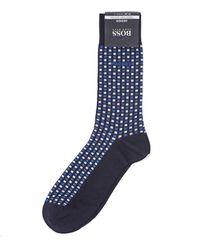BOSS - Rs Design Navy Blue Geometric Sock - Lyst