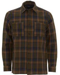 A.P.C. Khaki Achille Overcheck Shirt - Multicolour