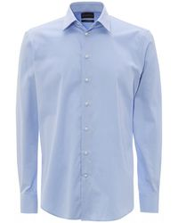 Emporio Armani Sky Blue Modern Fit Business Shirt