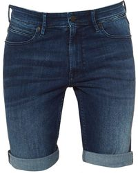 BOSS - Orange24 Shorts-p Super Stretch Blue Denim Shorts - Lyst