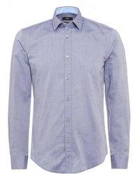 BOSS - Ronni 2 Blue Slim Fit Shirt - Lyst