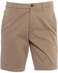 BOSS Liem4-w Chinos, Beige Slim Fit Shorts - Natural