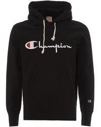 Champion Script Logo Hoody - Black