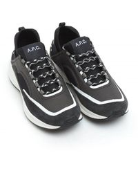 A.P.C. Alexander Trainers, Black Run Around Trainers