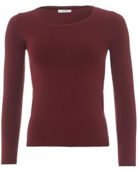 I Blues - 3/4 Sleeve Burgundy Red Knit Jumper - Lyst