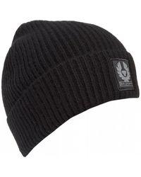 Belstaff - Seabrook 2.0 Wool Black Beanie - Lyst