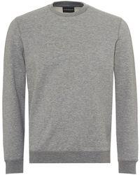 Armani Emporio Crew Neck Logo Sweatshirt Grey