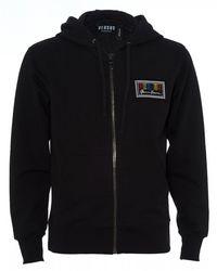 Versus 80s Logo Hoodie, Black Zipped Sweatshirt