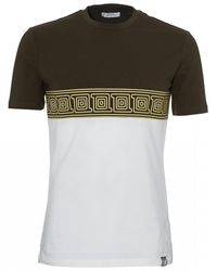 Versace Frame Panel T-shirt, Green White Tee