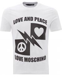 Love Moschino Love And Peace Slim Fit T-shirt - White