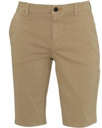 BOSS - Schino Slim Beige Chino Shorts - Lyst